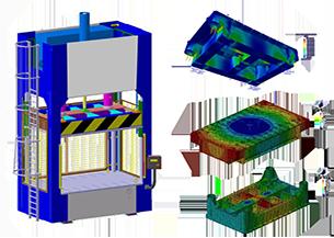 Diseño y cálculos FEM Prensas hidráulicas