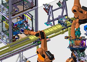Diseño de armarios automáticos en líneas de ensamblaje del SEAT LEON