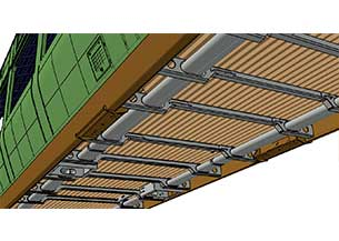 Ingeniería ferroviaria de estructura Bastidor de tren