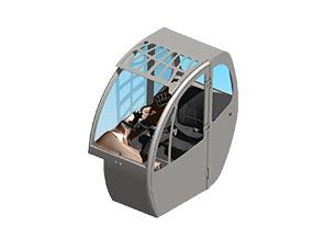 Ingeniería cabina manipulador telescópico