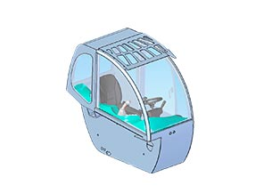 Diseño cabina manipulador telescópico